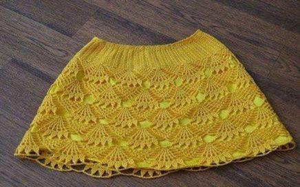 05c2fb4252 Teje Falda en Crochet