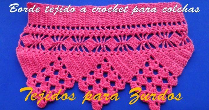 Borde Orilla O Cenefa Tejido A Crochet Para Colchas O Cubrecamas