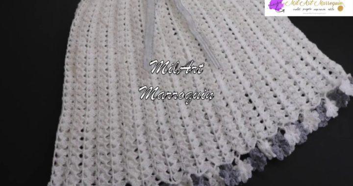 Vestido Crochet Para Niña De 4 Años Paso A Paso Crocheteu