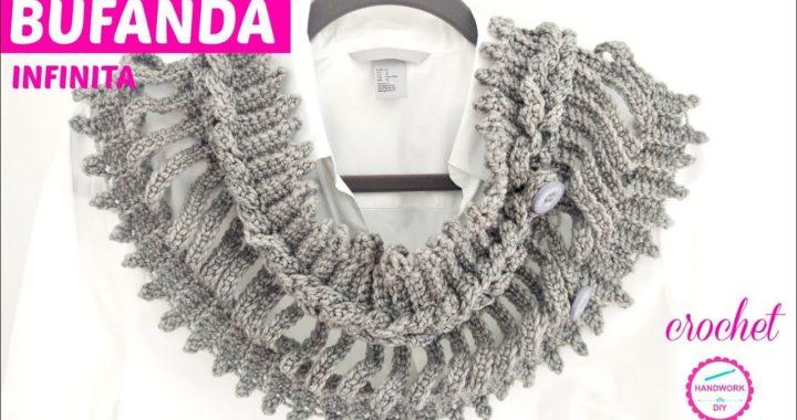 diseño atemporal selección premium venta al por mayor BUFANDA INFINITA A CROCHET KNITCRATE   Crochet.eu