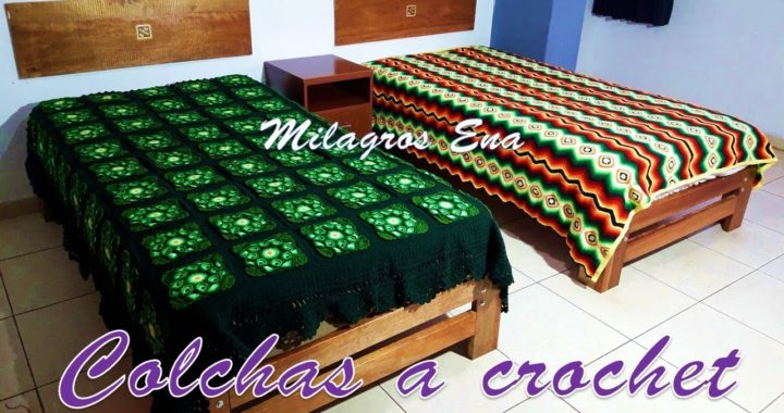Colchas O Cubrecamas Tejidas A Crochet Tejidos Hechos A Mano