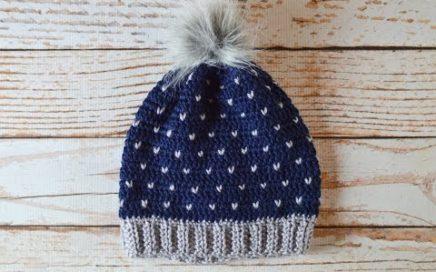 75cde986d28e94 Snowfall Slouchy Hat Crochet Pattern Tutorial
