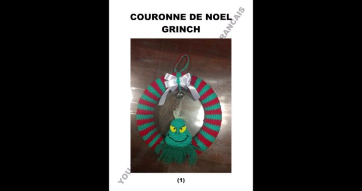 Couronne De Noel Grinch Au Crochet Crocheteu