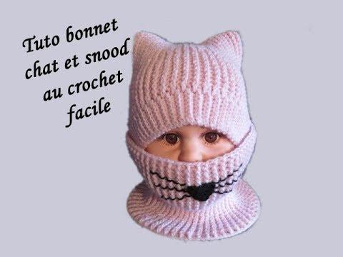 Tuto Bonnet Chat Et Snood Au Crochet Crocheteu