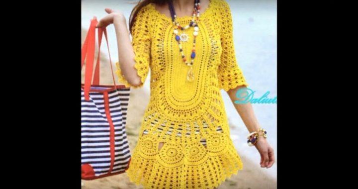 Blusas Para Mujer Vestidos Casuales Tejido En Crochet
