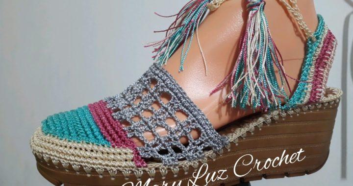 Zapato Tejido En Crochet Modelo Monserrate Crocheteu