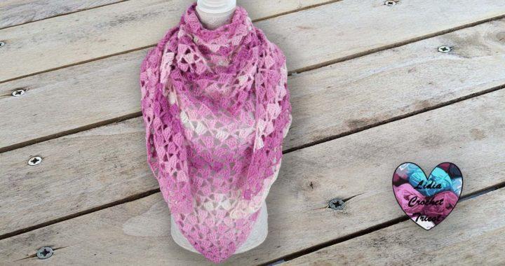 Châle Asymétrique Super Facile Crochet Crocheteu