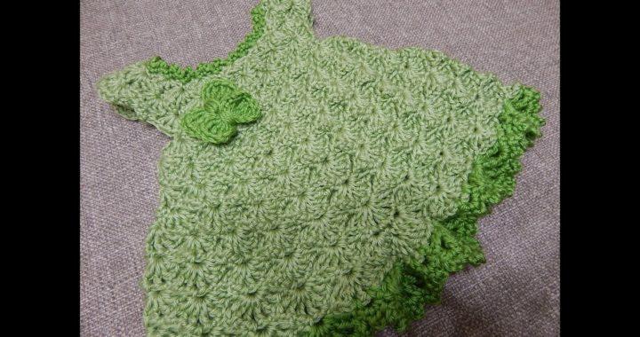 Vestido Crochet Para Bebe 0 Meses Pistache Crocheteu