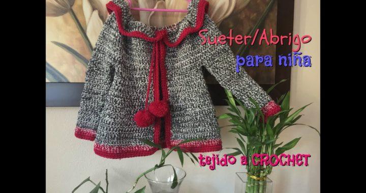 comprar lo mejor online aquí moda caliente Sueter/Abrigo para Niña tejido a Crochet/Ganchillo | Crochet.eu