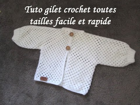 Tuto Gilet Crochet Granny Toutes Tailles Cardigan Knitting