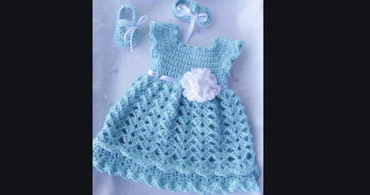 Vestidos Tejidos A Crochet Para Bebe Crocheteu