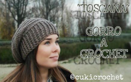 """TOSCANA""  GORRO A CROCHET   GANCHILLO BOMBACHO. TIPO BOINA. 087c5a7a9e4"