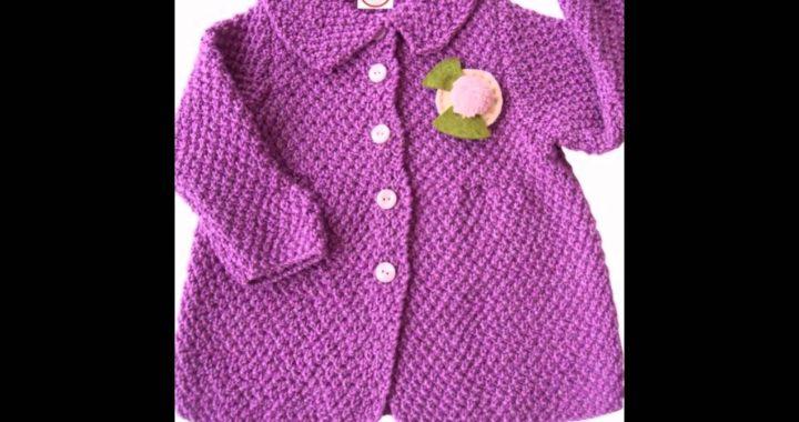 b03abd42401fe Abrigos bebe tejidos a Crochet ganchillo y dos agujas imagenes ...