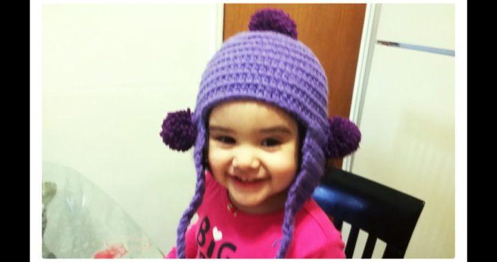 Como tejer gorro en crochet para niña  1gorrito  cb0d16a39b7