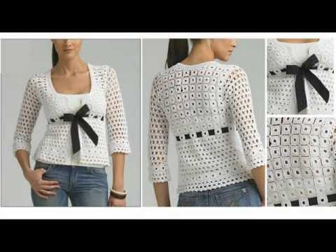 Hermosas Blusas Tejidas A Crochet Crocheteu