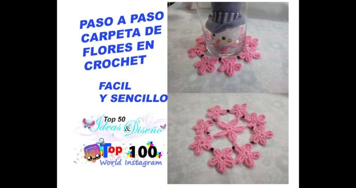 Paso A Paso Carpeta En Crochet Flores Sencillas Crocheteu