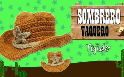 8d26881e63703 Sombrero Vaquero tejido a crochet