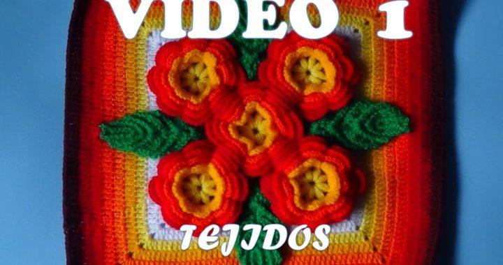 Tejidos A Crochet Paso A Paso Muestra 5 Flores Para Colchas Video