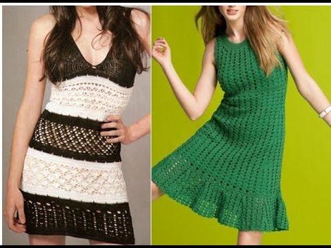 Vestidos Tejidos A Crochet Para Damas 1 Video Crocheteu