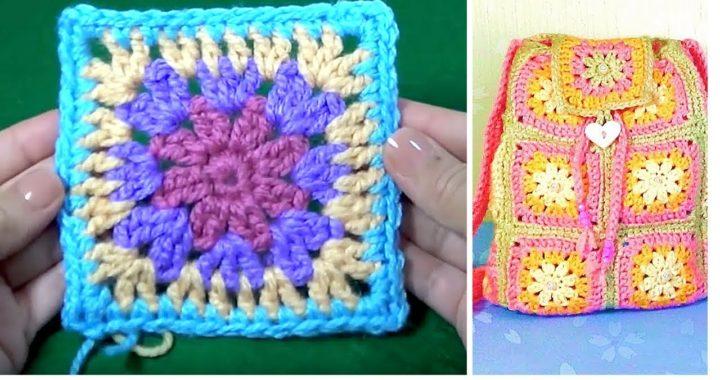 Como Tejer Cuadro De Flor Granny Tejido A Crochet Paso A Paso En