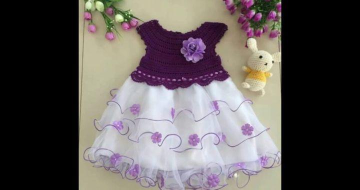 7f3c86526 Vestido para Niña Tejido a Crochet TUL Y TELA | Crochet.eu