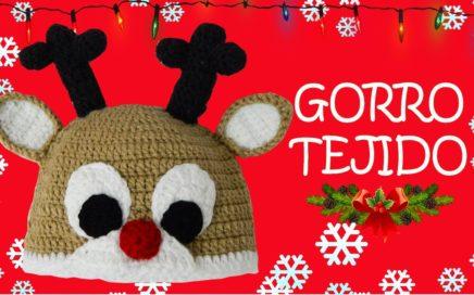Gorro de Reno tejido a crochet  2dc9bcf5c80