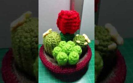 Patrones de Cactus con Maceta Amigurumi con tutorial en video ... | 272x436