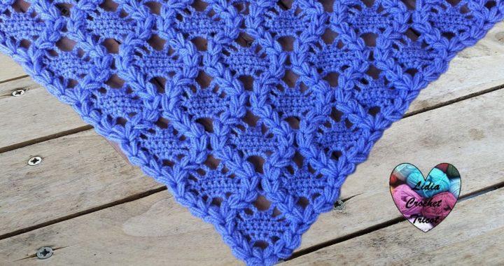 Châle Couronnes Crochet Facile Crowns Shawl Crochet
