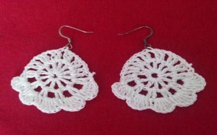 c086730b0213 COMO HACER ARETES TEJIDOS. Manualidades faciles como hacer unos aretes  tejidos a crochet paso ...