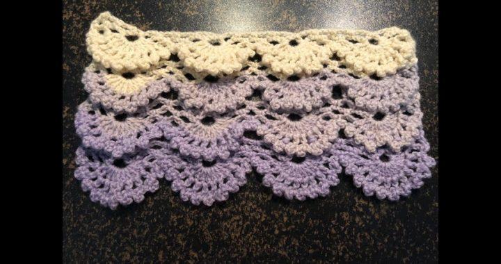 Tuto Motif Relief étole écharpe Couverture Au Crochet