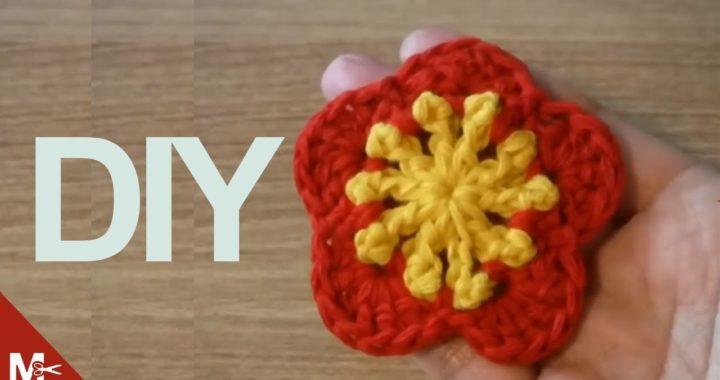 Como Hacer Una Flor Tejida A Crochet Facil Crochet Eu