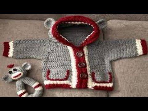 Sueter Tejido A Crochet Para Bebe Crocheteu
