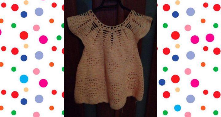 96ec19769 vestido para niña tejido a crochet o ganchillo parte 2 | Crochet.eu