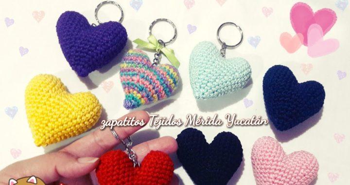 Easy To Crochet 3D Heart | Corazones tejidos a crochet, Corazones ... | 380x720