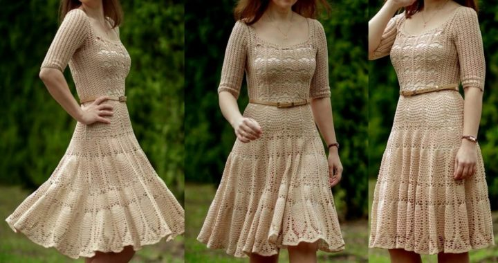 705f70bf9 Vestido en Crochet para Mujer | Crochet.eu