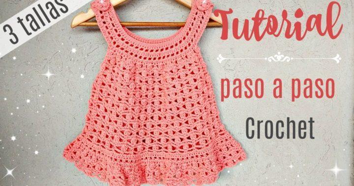 Aprende A Tejer Vestido Crochet Para Bebés En 3 Tallas