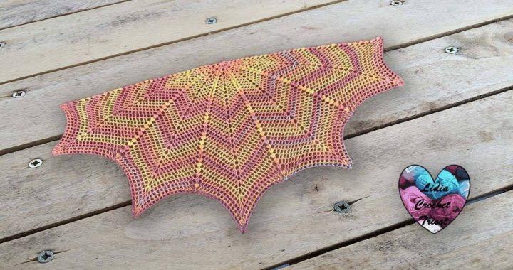 Châle Canada Version été Lidia Crochet Tricot Crocheteu