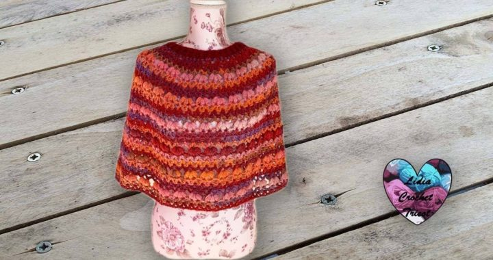 Cape Margarette Crochet Lidia Crochet Tricot Crocheteu