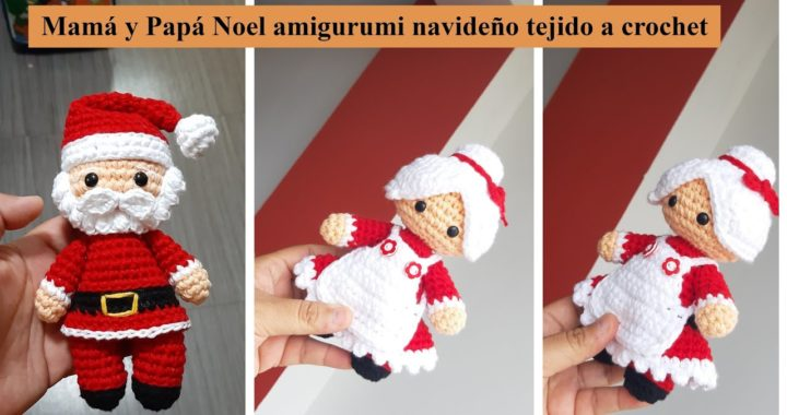 Tutorial amigurumi - Broche Papá Noel / Santa Claus - YouTube | 380x720